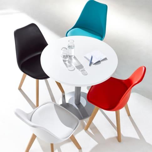 Konferenztisch, rund Max, 80cm Durchmesser Inszeniertes Bild