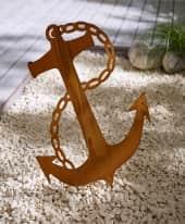 Gartenstecker Anker, XXL - in Rost-Optik, Metall, ca. H 60 cm & Stecker Inszeniertes Bild
