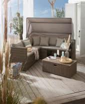 Outdoor-Lounge-Set, 2-tlg. Beach Inszeniertes Bild