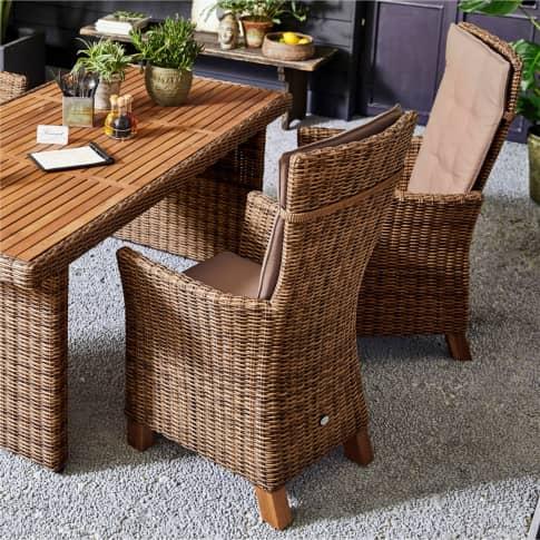 Outdoor-Sessel-Set, 2-tlg. Florenz Inszeniertes Bild