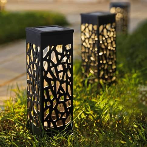 Solarleuchten-Set, 2-tlg. Garden Lights, Gartenstecker, ca. Ø18 cm Inszeniertes Bild