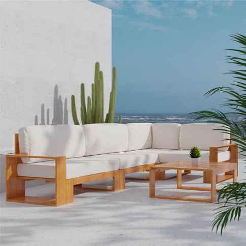 Outdoor-Lounge-Set, 5-tlg. Narbonne, inkl. Auflagen Inszeniertes Bild