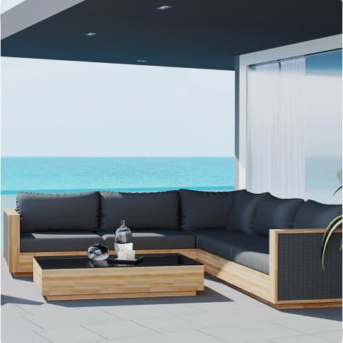Outdoor-Lounge-Set, 5-tlg. Monaco, inkl. Auflagen Inszeniertes Bild