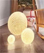LED-Leuchtkugel Stars, Blinklichtfunktion Inszeniertes Bild
