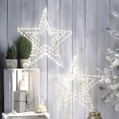 LED-Stern Mobilé, 3 rotierende Sterne , Metall, LEDs, Ø 56/38/24 cm Inszeniertes Bild