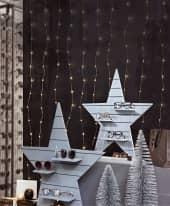 LED-Lichtervorhang Lucida, 198 LEDs, ca. 150 cm breit Inszeniertes Bild