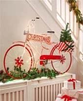 Deko-Objekt Santas Bike, Outdoor geeignet , 137 x 44 x 88 cm Inszeniertes Bild