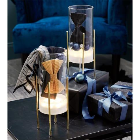 LED-Deko-Objekt Glaszylinder, mit Timer, H 27 cm Inszeniertes Bild