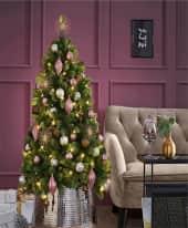 Weihnachtskugel-Set, 30-tlg. Festival, Rosé/Bronze/Silber - farblich sortiert Inszeniertes Bild