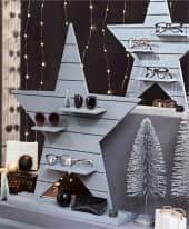 Deko-Objekt Stern, mit Präsentationsfläche, in 2 Varianten erhältlich Inszeniertes Bild
