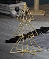 LED-Deko-Objekt Tanne Gold, mit Batteriefach, H 35 cm Inszeniertes Bild