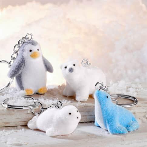Schlüsselanhänger-Set, 12-tlg. Polar Tiere, mit Schlüsselring Inszeniertes Bild