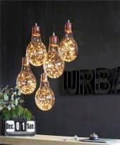 LED-Dekoleuchte Glühlampe Eddi, Glas/ Metall Inszeniertes Bild