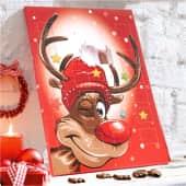 Adventskalender Rudi, ca. 75g Schokolade Inszeniertes Bild