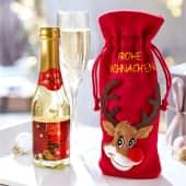 Flaschen-Beutel mit Gold-Secco Rudi, 0,2l, 22 Karat Blattgold Inszeniertes Bild