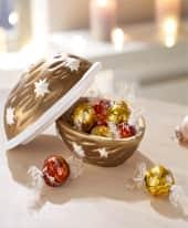 Weihnachts-Präsent Goldene Nuss, 75g Lindor Kugeln Inszeniertes Bild