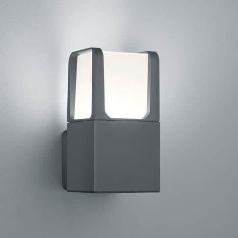 Außenwandleuchte Kolmar, inkl. Leuchtmittel, warmweiß, schlicht, Metall, ca. H20 cm Inszeniertes Bild