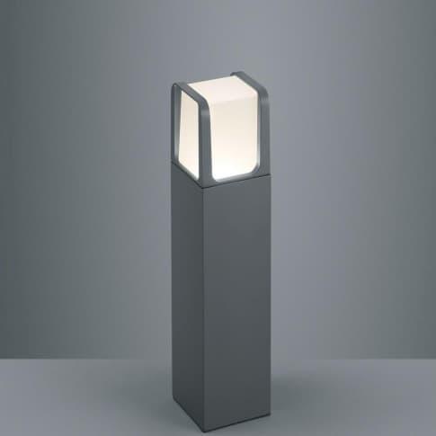 Außenpollerleuchte Kolmar, inkl. Leuchtmittel, warmweiß, schlicht, Metall, ca. H40 cm Inszeniertes Bild