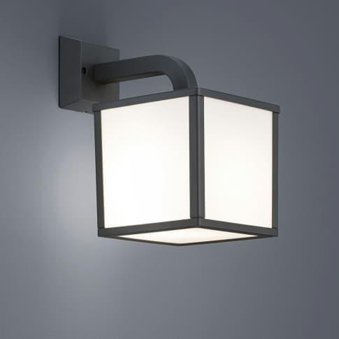 Außenwandleuchte Schulau 2, inkl. LED, warmweiß, schlicht, Metall, ca. H28 cm Inszeniertes Bild