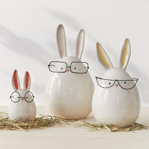 Deko-Figuren-Set, 3-tlg. Hasen, mit Brillen Inszeniertes Bild