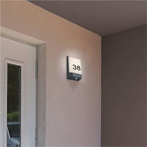 Außenwandleuchte Sülberg, inkl. LED, warmweiß, modern, Metall, ca. H21,1 cm Inszeniertes Bild