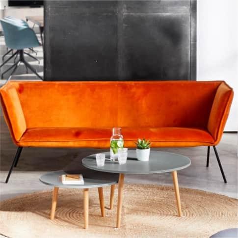 Sofa René, edel, Samt, ca. 200 cm breit Inszeniertes Bild