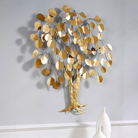 Wand-Objekt Baum, 3D Optik, ca. 80 cm hoch Inszeniertes Bild