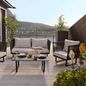 Outdoor-Lounge-Set, 4-tlg. Ravenna, modern, Metall Inszeniertes Bild