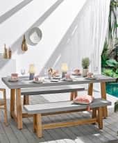 Outdoor-Tisch Beton Inszeniertes Bild