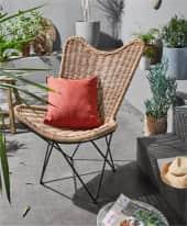 Outdoor-Lounge-Sessel Rattan Inszeniertes Bild