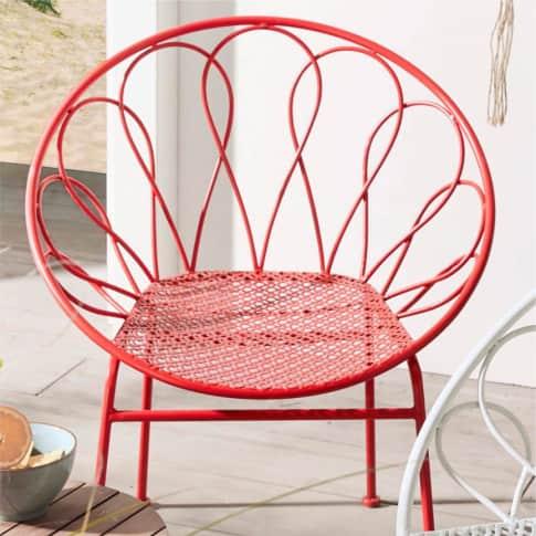 Outdoor-Stuhl Becky, Metall Inszeniertes Bild