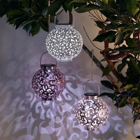 Solarleuchte Bonny, Gartenleuchte zum Hängen oder Stellen, ca. Ø16 cm Inszeniertes Bild
