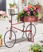 Pflanztopf Fahrrad, Vintage-Look, ca. 58 cm lang Inszeniertes Bild