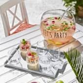 Bowle-Set, 8-tlg. Party Drink, inkl. Kelle und 6 Gläsern, Glas Inszeniertes Bild