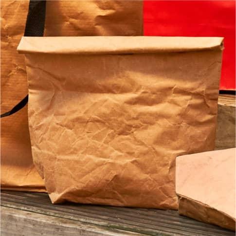 Kraftpapier-Lunchbag, mit Kühlfunktion Inszeniertes Bild