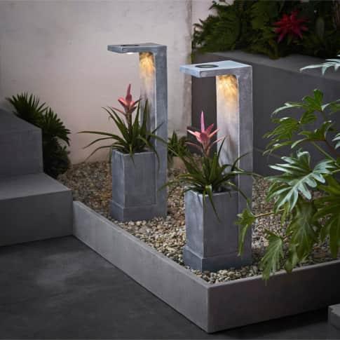 Solarleuchte Planter, Bepflanzbar Inszeniertes Bild