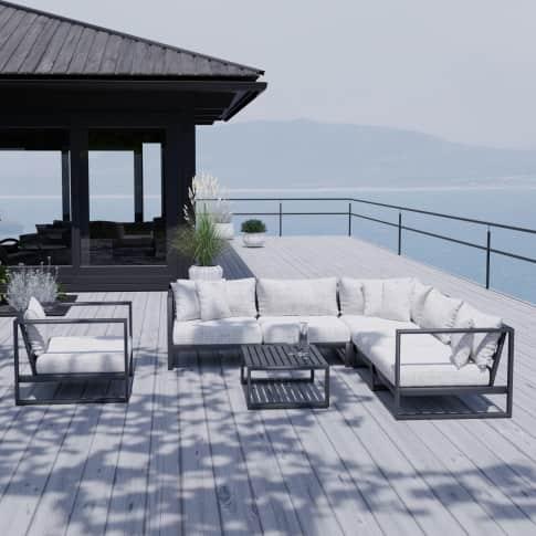 Outdoor-Lounge-Set, 3-tlg. Sevilla, inkl. Auflagen, Alu Inszeniertes Bild