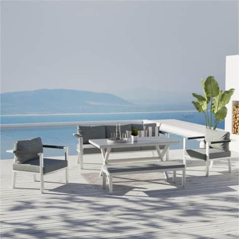 Outdoor-Lounge-Set Granada, inkl. Auflagen, Alu Inszeniertes Bild
