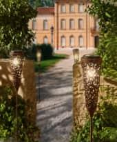 Solarleuchte Barock, Gartenstecker, Rost-Optik, Barockstil, Metall, ca. H100 cm Inszeniertes Bild