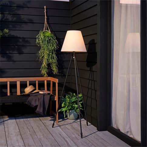Solar-Standleuchte Lunis, H147 cm Inszeniertes Bild