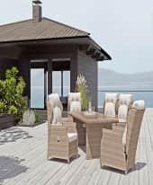 Outdoor-Liegen-Set inkl. Tisch, 3-tlg. Ibiza, inkl. Auflagen Inszeniertes Bild