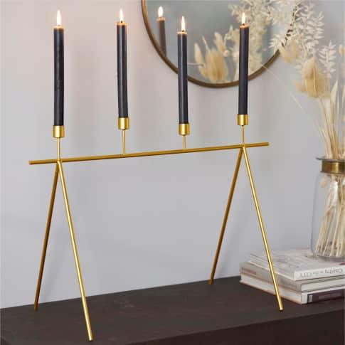 Kerzenständer Muscida, mit 4 Kerzenhaltern, ca. 45 cm hoch Inszeniertes Bild