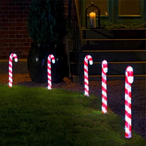 LED-Stecker-Set, 5-tlg. Zuckerstangen Inszeniertes Bild
