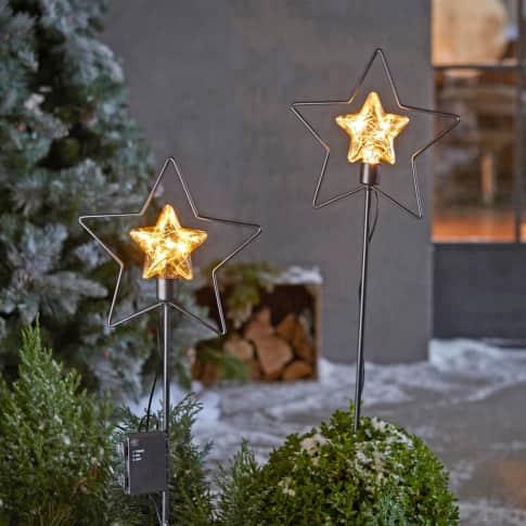 LED-Garten-Stecker Starlight, mit Timerfunktion, ca. 79 cm hoch Inszeniertes Bild