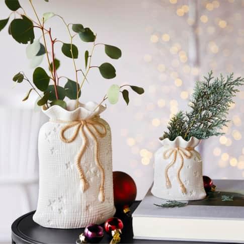 Vase Weihnachtsbeutel Inszeniertes Bild