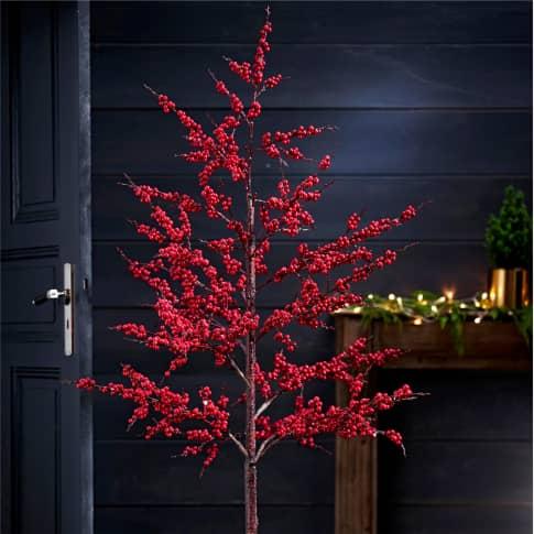 Kunstpflanze Berry, Weihnachtsdeko, Bäumchen mit roten Beeren, ca. H170 cm Inszeniertes Bild
