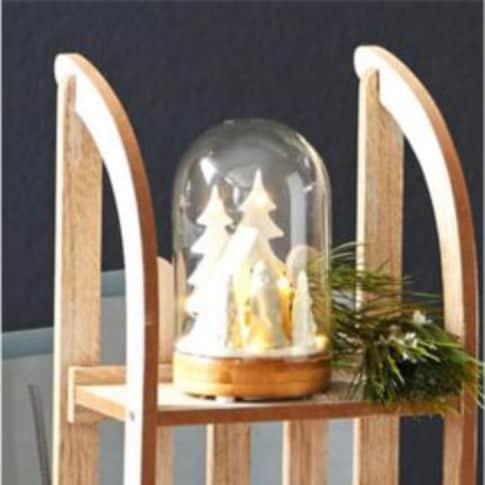 LED-Deko-Objekt X-Mas-Glasglocke Inszeniertes Bild