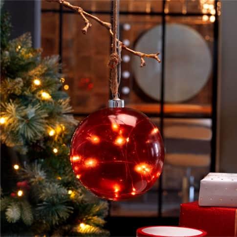 LED-Deko-Objekt Weihnachtskugel Inszeniertes Bild