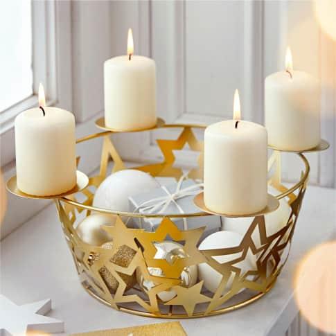 Adventskorb Sterne Inszeniertes Bild