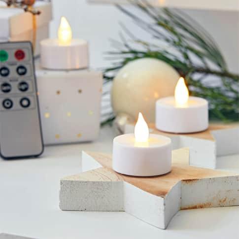 LED-Teelichter-Set, 4-tlg., inkl. Fernbedienung Inszeniertes Bild